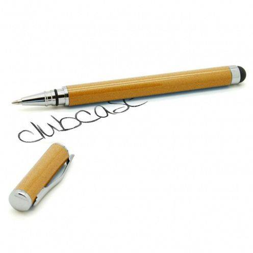 Touch Pen bola con capucha de oro y brillo