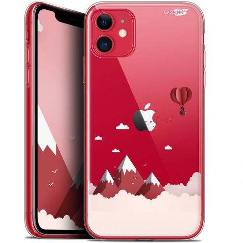 "Carcasa Gel Extra Fina Apple iPhone 11 (6.1"") Design Montagne En Montgolfière"