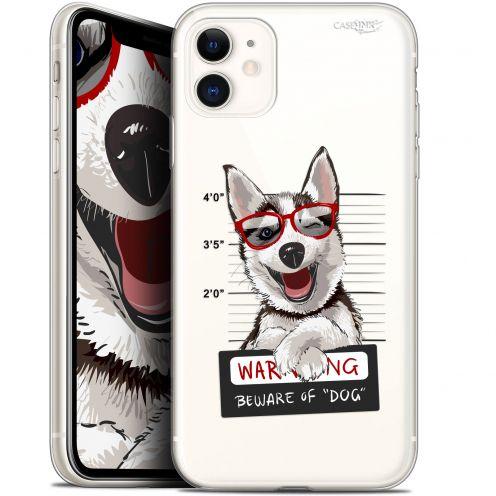 "Carcasa Gel Extra Fina Apple iPhone 11 (6.1"") Design Beware The Husky Dog"