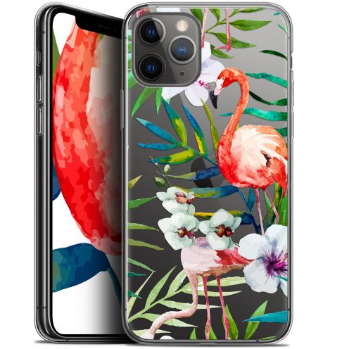"Carcasa Gel Extra Fina Apple iPhone 11 Pro (5.8"") Watercolor Tropical Flamingo"