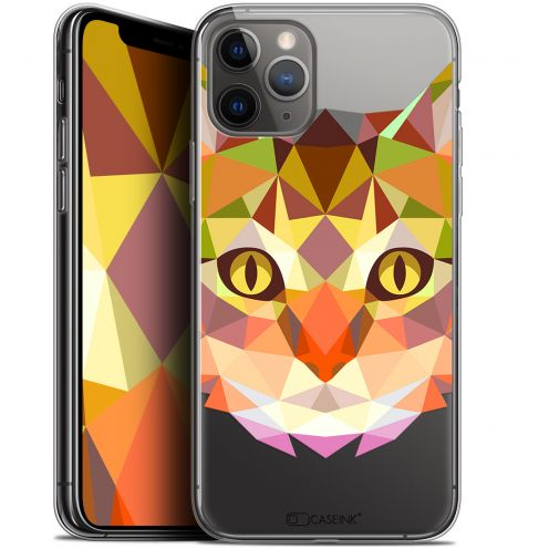 "Carcasa Gel Extra Fina Apple iPhone 11 Pro (5.8"") Polygon Animals Gato"
