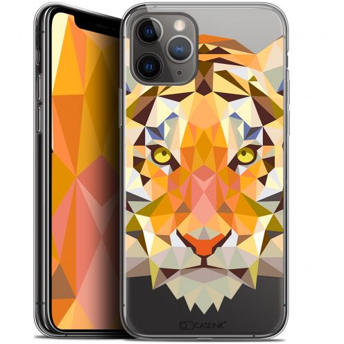 "Carcasa Gel Extra Fina Apple iPhone 11 Pro (5.8"") Polygon Animals Tigre"