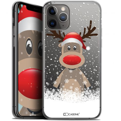 "Carcasa Gel Extra Fina Apple iPhone 11 Pro Max (6.5"") Noël 2017 Cerf au Bonnet"