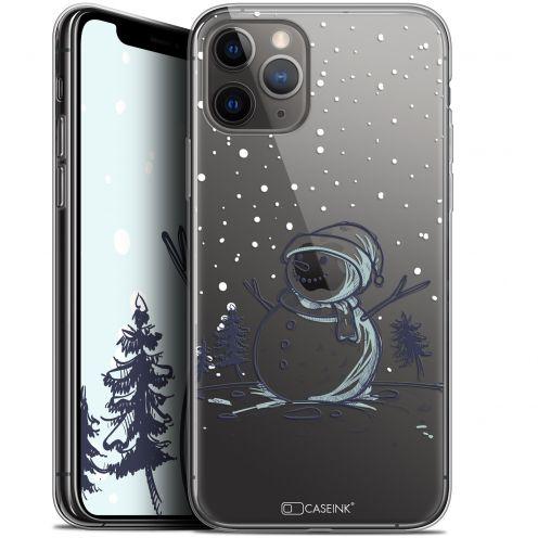 "Carcasa Gel Extra Fina Apple iPhone 11 Pro Max (6.5"") Noël 2017 Bonhomme de Neige"