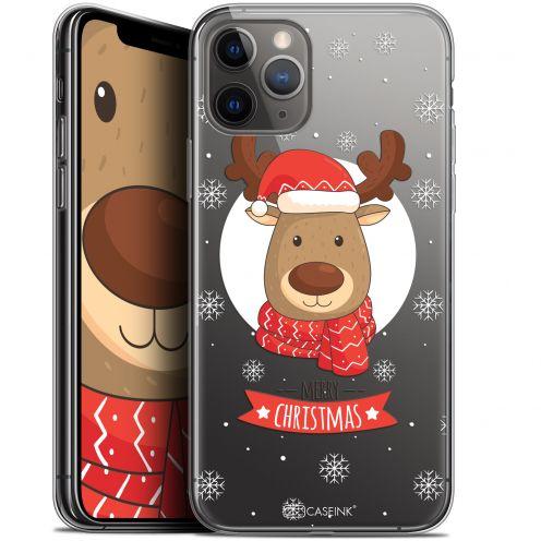 """Carcasa Gel Extra Fina Apple iPhone 11 Pro Max (6.5"""") Noël 2017 Cerf à Echarpe"""