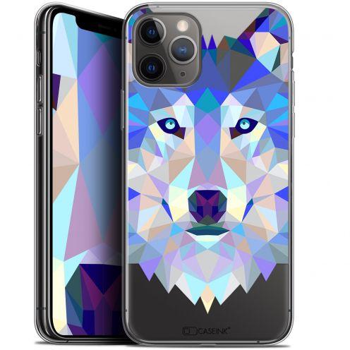 "Carcasa Gel Extra Fina Apple iPhone 11 Pro Max (6.5"") Polygon Animals Lobo"