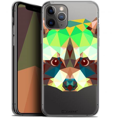 "Carcasa Gel Extra Fina Apple iPhone 11 Pro Max (6.5"") Polygon Animals Raton Laveur"