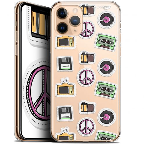 "Carcasa Gel Extra Fina Apple iPhone 11 Pro Max (6.5"") Design Vintage Stickers"