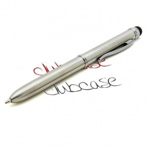 Touch pen cuarto 2 colores plata de vuelta