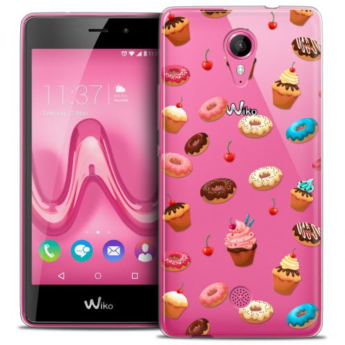 Carcasa Crystal Gel Extra Fina Wiko Tommy Foodie Donuts