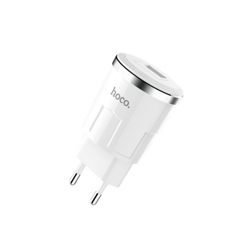 HOCO travel charger single port USB Thunder Power 2,4A C37A white