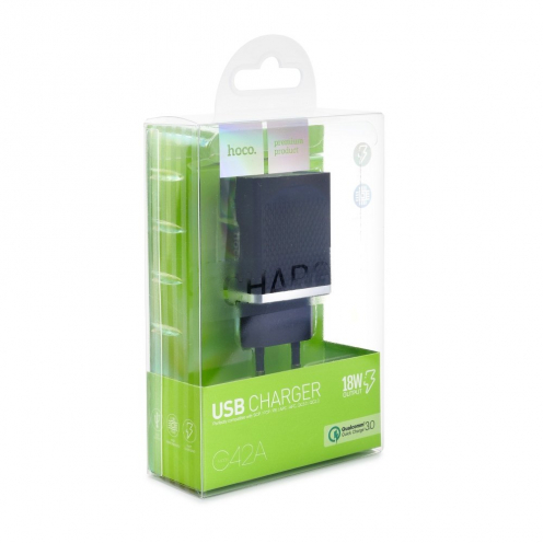 HOCO travel charger single USB QC3.0 VAST POWER C42A black