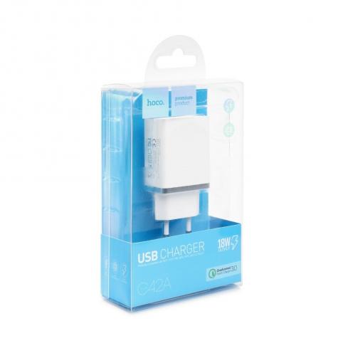 HOCO travel charger single USB QC3.0 VAST POWER C42A white