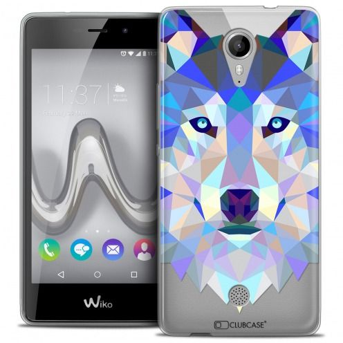 Carcasa Crystal Gel Extra Fina Wiko Tommy Polygon Animals Lobo