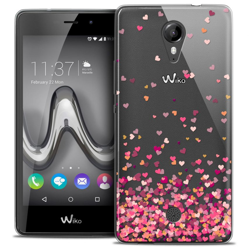 Carcasa Crystal Gel Extra Fina Wiko Tommy Sweetie Heart Flakes