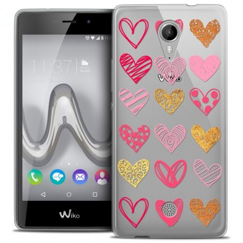 Carcasa Crystal Gel Extra Fina Wiko Tommy Sweetie Doodling Hearts