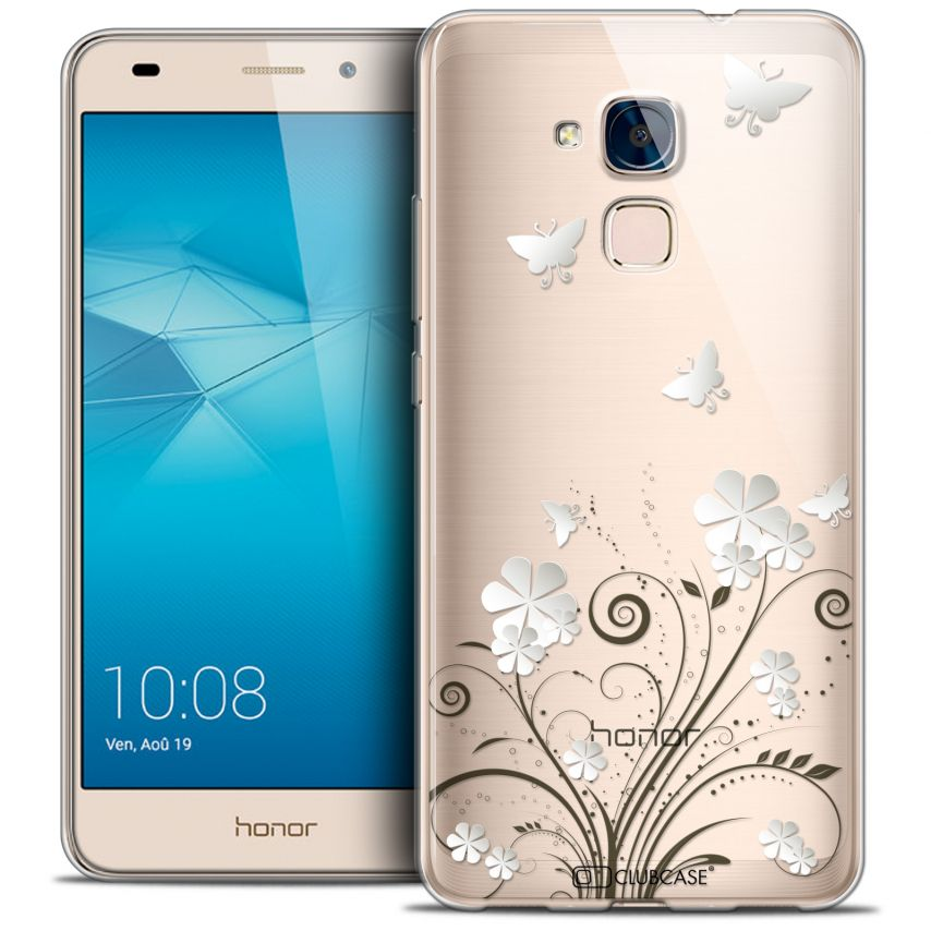 Carcasa Crystal Gel Extra Fina Huawei Honor 5C Summer Papillons