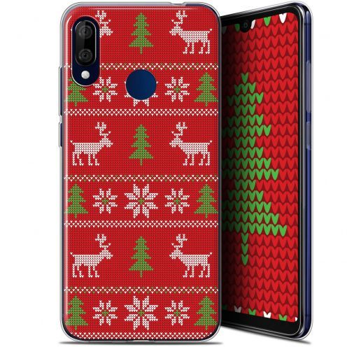 """Carcasa Gel Extra Fina Wiko View 3 LITE (6.09"""") Noël 2017 Couture Rouge"""
