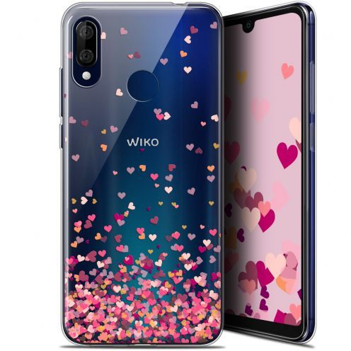 "Carcasa Gel Extra Fina Wiko View 3 LITE (6.09"") Sweetie Heart Flakes"