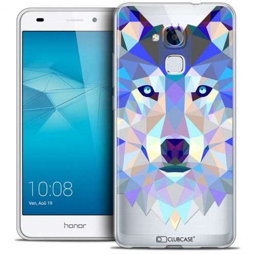 Carcasa Crystal Gel Extra Fina Huawei Honor 5C Polygon Animals Lobo