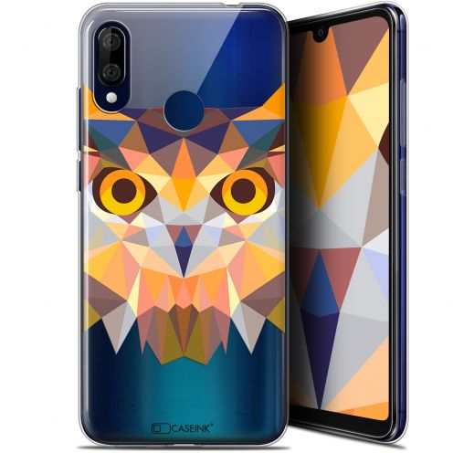 "Carcasa Gel Extra Fina Wiko View 3 LITE (6.09"") Polygon Animals Búho"