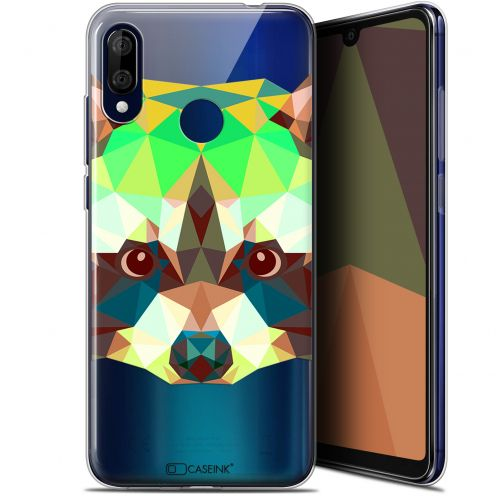 "Carcasa Gel Extra Fina Wiko View 3 LITE (6.09"") Polygon Animals Raton Laveur"