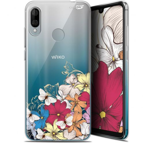 "Carcasa Gel Extra Fina Wiko View 3 LITE (6.09"") Design Nuage Floral"