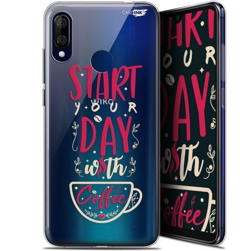 "Carcasa Gel Extra Fina Wiko View 3 LITE (6.09"") Design Start With Coffee"