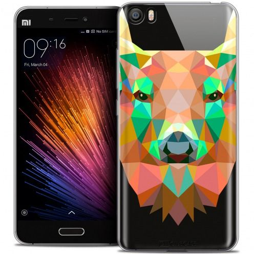 Carcasa Crystal Gel Extra Fina Xiaomi Mi 5 Polygon Animals Ciervo