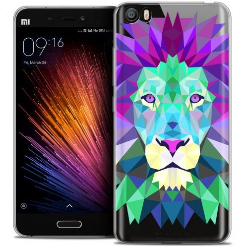 Carcasa Crystal Gel Extra Fina Xiaomi Mi 5 Polygon Animals León