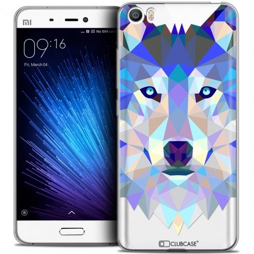 Carcasa Crystal Gel Extra Fina Xiaomi Mi 5 Polygon Animals Lobo