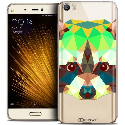 Carcasa Crystal Gel Extra Fina Xiaomi Mi 5 Polygon Animals Mapache