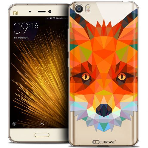 Carcasa Crystal Gel Extra Fina Xiaomi Mi 5 Polygon Animals Zorro