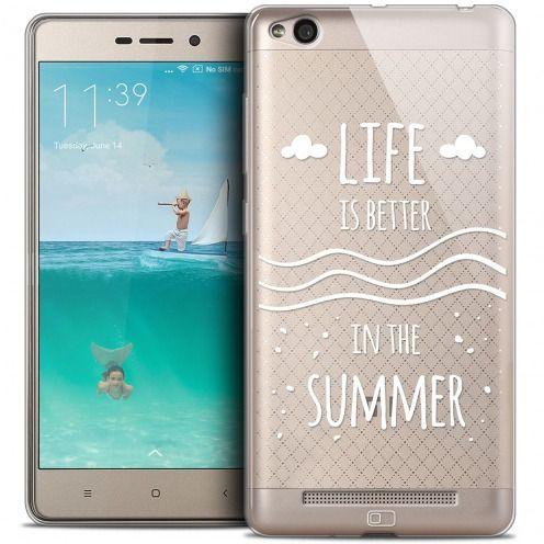 Carcasa Crystal Gel Extra Fina Xiaomi Redmi 3 Summer Life's Better