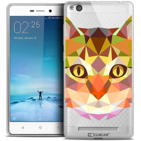 Carcasa Crystal Gel Extra Fina Xiaomi Redmi 3 Polygon Animals Gato