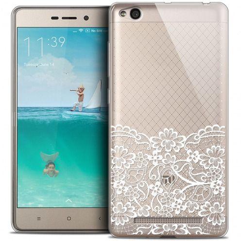Carcasa Crystal Gel Extra Fina Xiaomi Redmi 3 Spring Bas dentelle