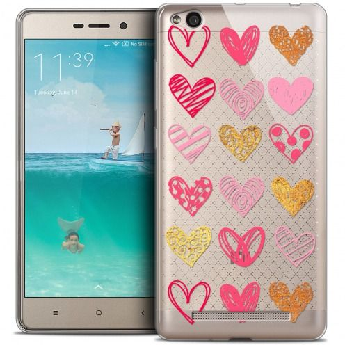 Carcasa Crystal Gel Extra Fina Xiaomi Redmi 3 Sweetie Doodling Hearts