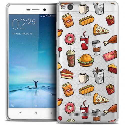 Carcasa Crystal Gel Extra Fina Xiaomi Redmi 3 Foodie Fast Food