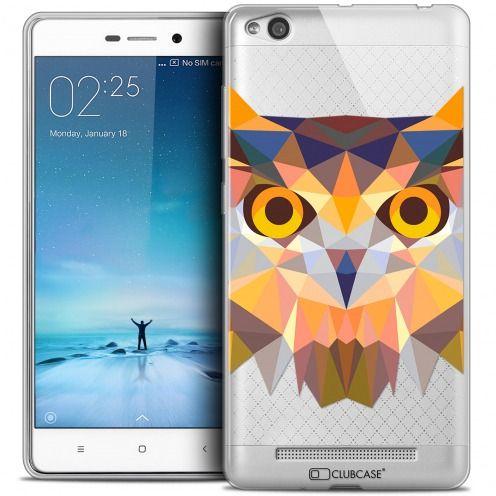 Carcasa Crystal Gel Extra Fina Xiaomi Redmi 3 Polygon Animals Búho