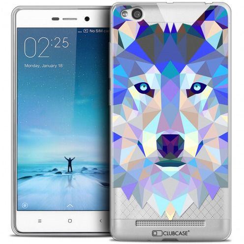 Carcasa Crystal Gel Extra Fina Xiaomi Redmi 3 Polygon Animals Lobo