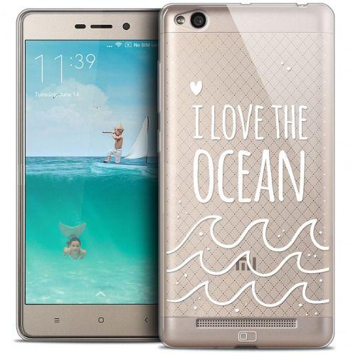 Carcasa Crystal Gel Extra Fina Xiaomi Redmi 3 Summer I Love Ocean