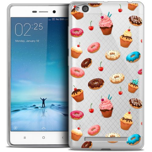 Carcasa Crystal Gel Extra Fina Xiaomi Redmi 3 Foodie Donuts