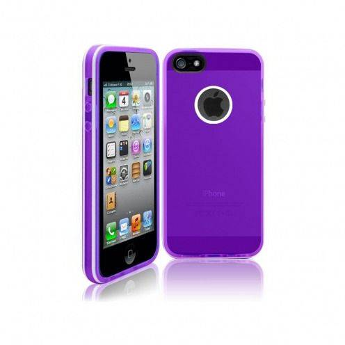 Carcasa iPhone 5S / 5 White Stripes Violeta