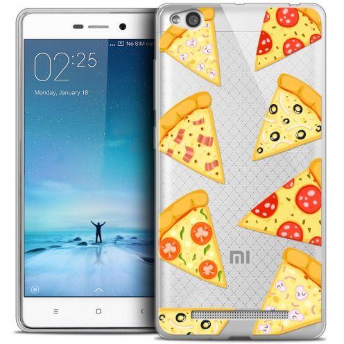 Carcasa Crystal Gel Extra Fina Xiaomi Redmi 3 Foodie Pizza