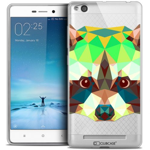 Carcasa Crystal Gel Extra Fina Xiaomi Redmi 3 Polygon Animals Mapache