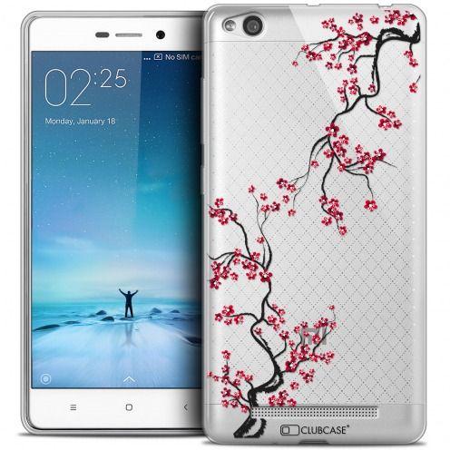 Carcasa Crystal Gel Extra Fina Xiaomi Redmi 3 Summer Sakura
