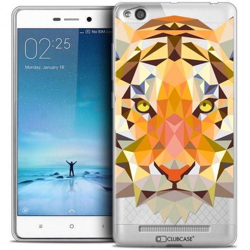 Carcasa Crystal Gel Extra Fina Xiaomi Redmi 3 Polygon Animals Tigre