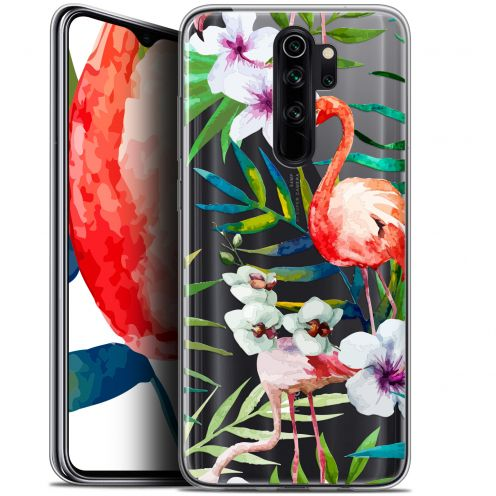 "Carcasa Gel Extra Fina Xiaomi Redmi Note 8 PRO (6.5"") Watercolor Tropical Flamingo"