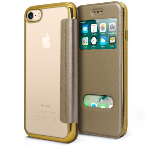 Funda Apple iPhone 7/8 (4.7) Flip Folio Gel Window View - Oro Metalizado
