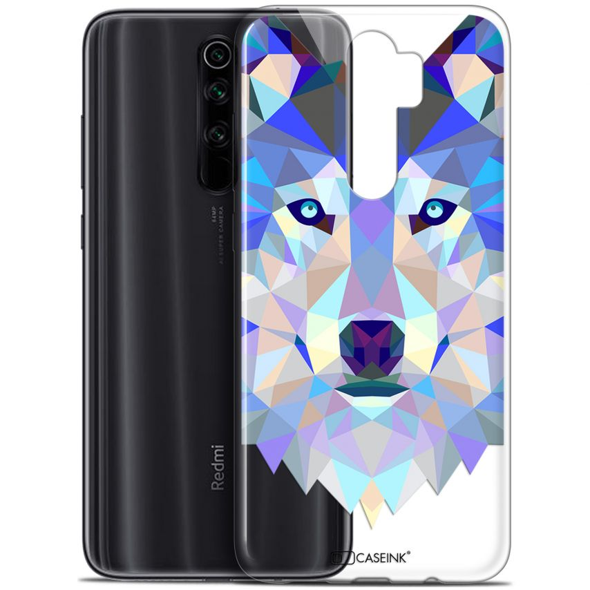 "Carcasa Gel Extra Fina Xiaomi Redmi Note 8 PRO (6.5"") Polygon Animals Lobo"